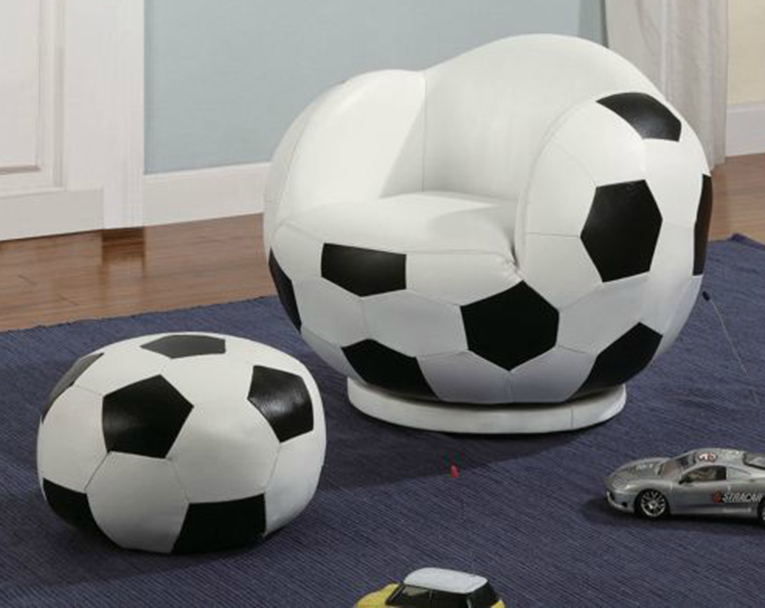soccer ball chair and ottoman