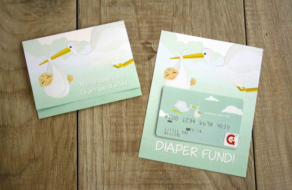 Diaper Fund gift card holders